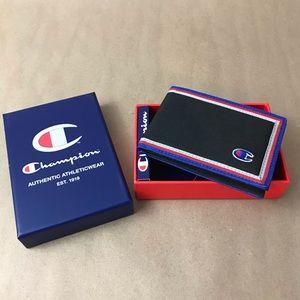 NEW Men's Champion Black Bifold Wallet w/Gift Box